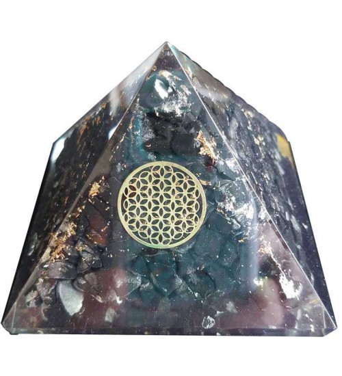 Shungite Flower of Life Orgone Pyramid at All Wicca Supply Shop, Wiccan Supplies, All Wicca Books, Pagan Jewelry, Wiccan Altar Statues