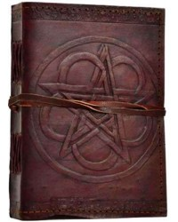 Pentagram Leather Journal with Cord All Wicca Magickal Supplies Wiccan Supplies, Wicca Books, Pagan Jewelry, Altar Statues