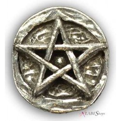 Pentagram Pewter Pocket Charm All Wicca Wiccan Altar Supplies, Books, Jewelry, Statues