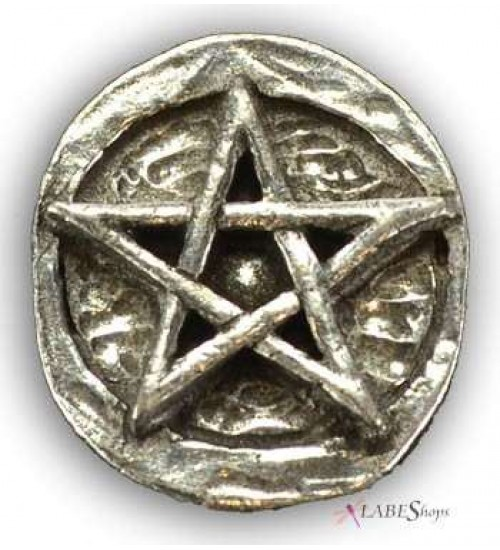 Pentagram Pewter Pocket Charm at All Wicca Magical Supplies, Wiccan Supplies, Wicca Books, Pagan Jewelry, Altar Statues