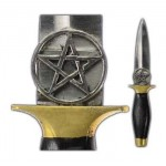 Pentagram Athame Witches Knife