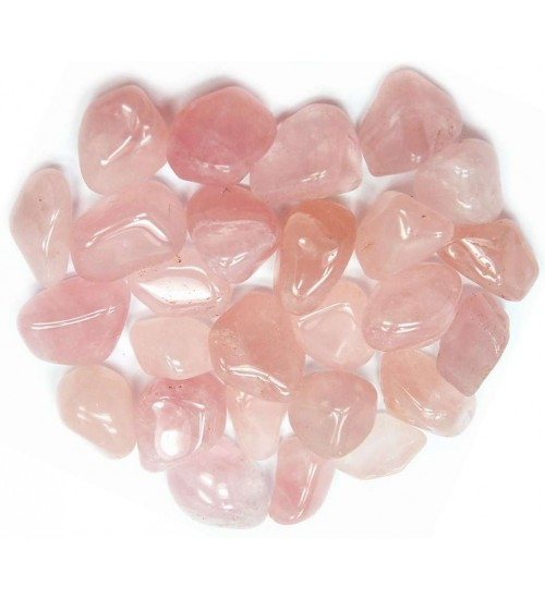 Rose Quartz Tumbled Stones - 1 Pound Pack at All Wicca Store Magickal Supplies, Wiccan Supplies, Wicca Books, Pagan Jewelry, Altar Statues