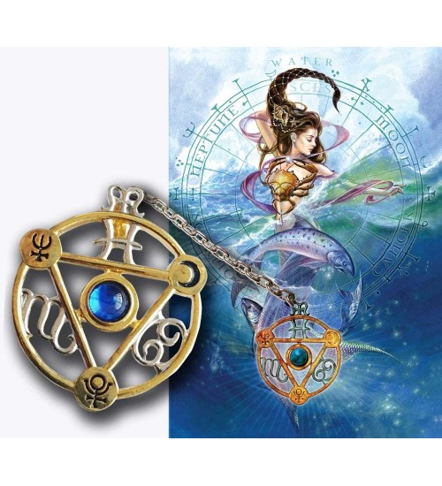 Elemental Water Talisman and Greeting Card at All Wicca Store Magickal Supplies, Wiccan Supplies, Wicca Books, Pagan Jewelry, Altar Statues