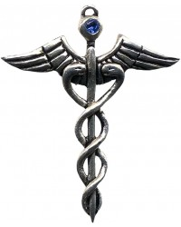 Caduceus Amulet for Healing All Wicca Magickal Supplies Wiccan Supplies, Wicca Books, Pagan Jewelry, Altar Statues