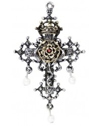 Hampton Court Rose Cross Necklace All Wicca Magickal Supplies Wiccan Supplies, Wicca Books, Pagan Jewelry, Altar Statues