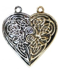 Tristan and Iseult Heart Token Necklace All Wicca Store Magickal Supplies Wiccan Supplies, Wicca Books, Pagan Jewelry, Altar Statues