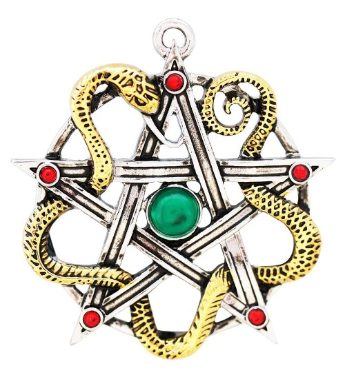 Sulis Minerva Serpent Pentagram Necklace at All Wicca Store Magickal Supplies, Wiccan Supplies, Wicca Books, Pagan Jewelry, Altar Statues