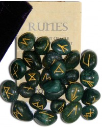 Bloodstone Green Gemston Rune Set All Wicca Store Magickal Supplies Wiccan Supplies, Wicca Books, Pagan Jewelry, Altar Statues