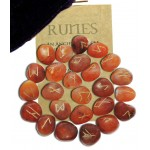 Carnelian Gemstone Rune Set