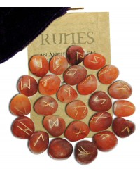 Carnelian Gemstone Rune Set All Wicca Store Magickal Supplies Wiccan Supplies, Wicca Books, Pagan Jewelry, Altar Statues