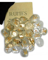 Crystal Quartz Gemstone Runes