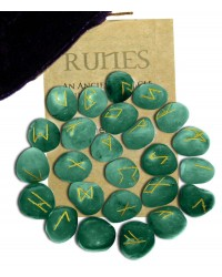 Green Aventurine Rune Set All Wicca Store Magickal Supplies Wiccan Supplies, Wicca Books, Pagan Jewelry, Altar Statues