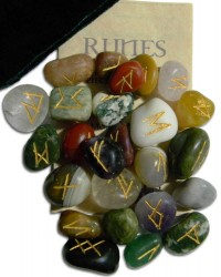 Multi-Stone Agate Gemstone Rune Set All Wicca Store Magickal Supplies Wiccan Supplies, Wicca Books, Pagan Jewelry, Altar Statues