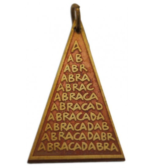Abracadabra Charm for Good Fortune at All Wicca Store Magickal Supplies, Wiccan Supplies, Wicca Books, Pagan Jewelry, Altar Statues
