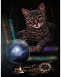 Fortune Teller Cat Canvas Print All Wicca Store Magickal Supplies Wiccan Supplies, Wicca Books, Pagan Jewelry, Altar Statues