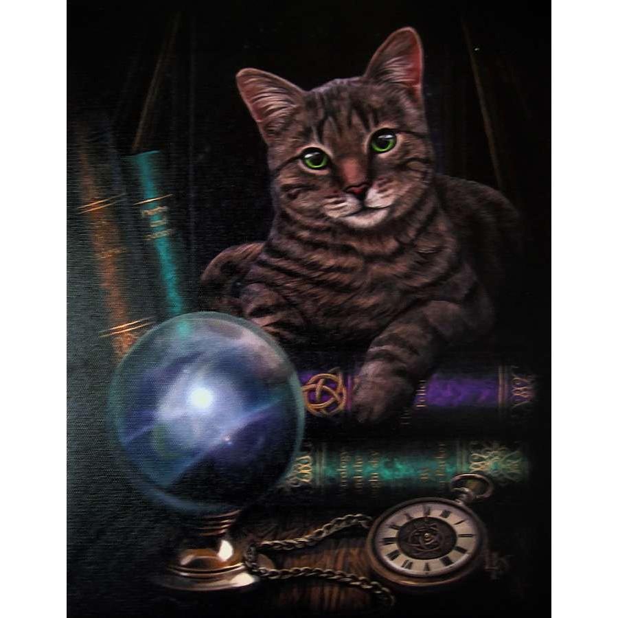 Fortune Teller Cat Canvas Print Lisa Parker Pagan Art