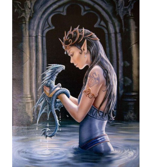 Water Dragon Canvas Art Print at All Wicca Store Magickal Supplies, Wiccan Supplies, Wicca Books, Pagan Jewelry, Altar Statues
