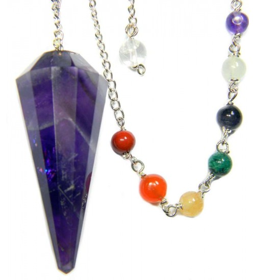 Amethyst Chakra Scrying Pendulum at All Wicca Store Magickal Supplies, Wiccan Supplies, Wicca Books, Pagan Jewelry, Altar Statues