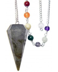 Labradorite and Chakra Scrying Pendulum All Wicca Magickal Supplies Wiccan Supplies, Wicca Books, Pagan Jewelry, Altar Statues