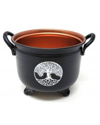 Tree of Life Metal 4 Inch Cauldron