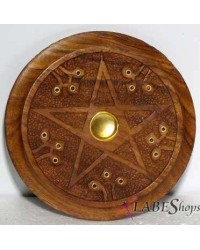 Wood Pentacle Incense Burner All Wicca Store Magickal Supplies Wiccan Supplies, Wicca Books, Pagan Jewelry, Altar Statues