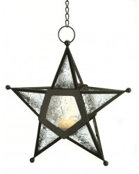 Star Hanging Lantern - Clear All Wicca Store Magickal Supplies Wiccan Supplies, Wicca Books, Pagan Jewelry, Altar Statues