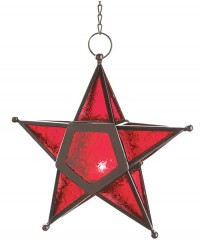 Star Hanging Lantern - Red