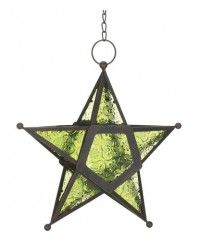 Star Hanging Lantern - Green