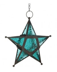 Star Hanging Lantern - Blue All Wicca Store Magickal Supplies Wiccan Supplies, Wicca Books, Pagan Jewelry, Altar Statues